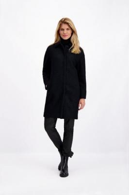 Czarny płaszcz zimowy damski Stina Polline 84750