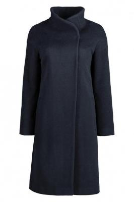 Granatowy płaszcz damski elegancki Lia Luis  84755