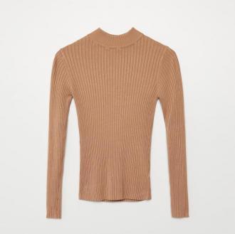 Cropp - Sweter z półgolfem - Beżowy