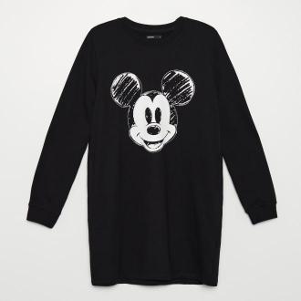 Cropp - Dresowa sukienka Mickey Mouse - Czarny