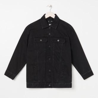 Sinsay - Kurtka jeansowa - Czarny