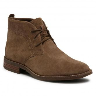 Botki CLARKS - Camzin Grace 261530514  Taupe Suede