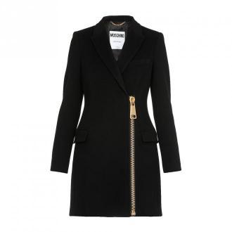 Moschino płaszcz Płaszcze Czarny Dorośli Kobiety Rozmiar: 42