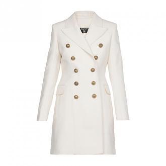 Balmain płaszcz Płaszcze Biały Dorośli Kobiety Rozmiar: 38 FR