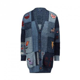 Polo Ralph Lauren Inlay cardigan Swetry i bluzy Niebieski Dorośli