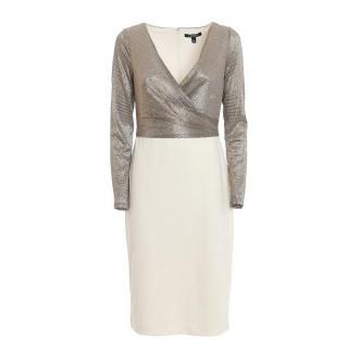 Ralph Lauren ubrać 253768097002 mtlc / gnmtl mtlc Sukienki Beżowy