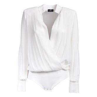 Elisabetta Franchi kOSZULA Body Koszulki i topy Biały Dorośli Kobiety