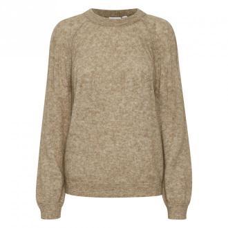 Saint Tropez Darla Pullover Swetry i bluzy Beżowy Dorośli Kobiety