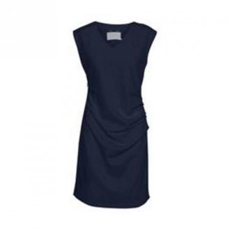 Kaffe Indie V-Neck Sukienka Sukienki Niebieski Dorośli Kobiety