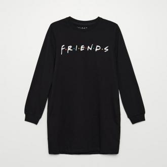 Cropp - Dresowa sukienka Friends - Czarny