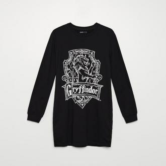 Cropp - Dresowa sukienka Harry Potter - Czarny