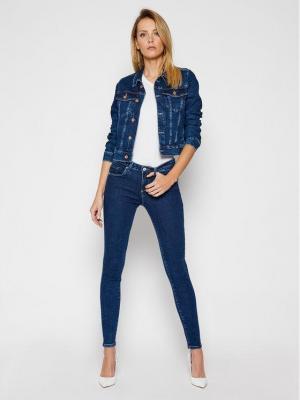 Guess Kurtka jeansowa Delya W1RN01 D4663 Granatowy Regular Fit