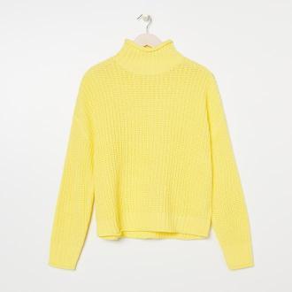 Sinsay - Sweter z golfem - Żółty