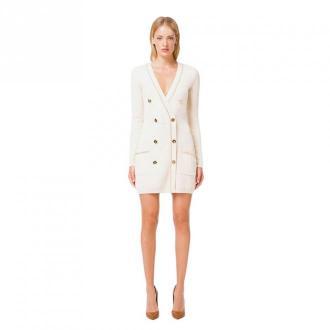 Elisabetta Franchi Dress Sukienki Biały Dorośli Kobiety Rozmiar: XS -