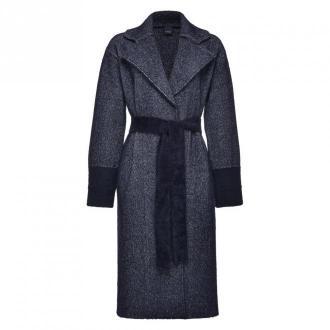 Pinko Coat Płaszcze Czarny Dorośli Kobiety Rozmiar: M
