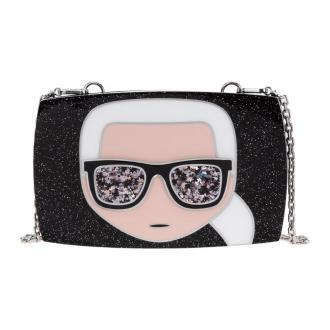 Karl Lagerfeld clutch with shoulder strap handbag bag Ikonik Karl