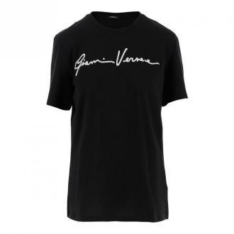 Versace T-shirty Koszulki i topy Czarny Dorośli Kobiety Rozmiar: 38 IT