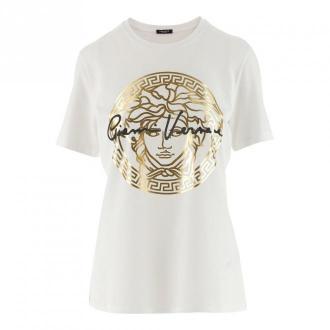Versace T-shirty Koszulki i topy Biały Dorośli Kobiety Rozmiar: 38 IT