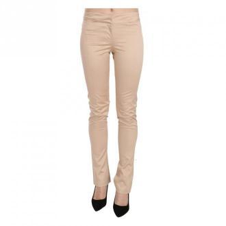 Just Cavalli Low Waist Skinny Formal Trousers Pants Spodnie Różowy