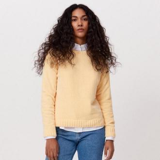 Cropp - Sweter z szenili - Żółty