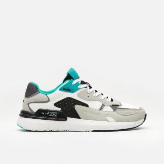 Cropp - Sneakersy z odblaskowymi elementami - Biały