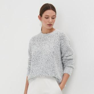 Sinsay - Sweter boucle - Jasny szary