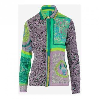 Versace Koszula Bluzki i koszule Fioletowy Dorośli Kobiety Rozmiar: 42
