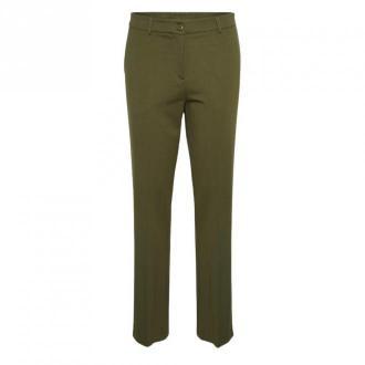 Karen by Simonsen Caro Flared Spodnie Spodnie Zielony Dorośli Kobiety