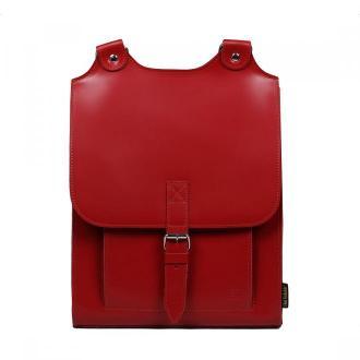 plecak skórzany Bookpack damski czerwony
