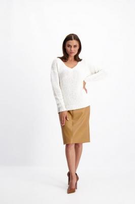 Kremowy sweter damski 84110
