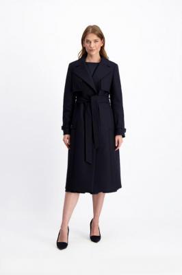 Granatowy płaszcz Janette Taglio 85263