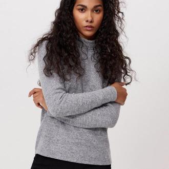 Cropp - Sweter z golfem - Jasny szary