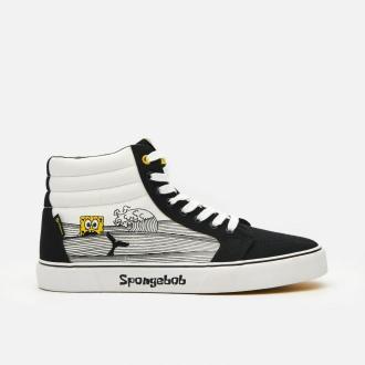 Cropp - Wysokie trampki SpongeBob - Biały
