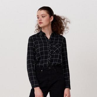 Cropp - Koszula w kratę - Czarny