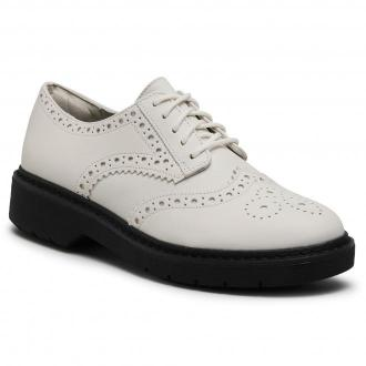 Oxfordy CLARKS - Witcombe Echo 261553684  White Leather