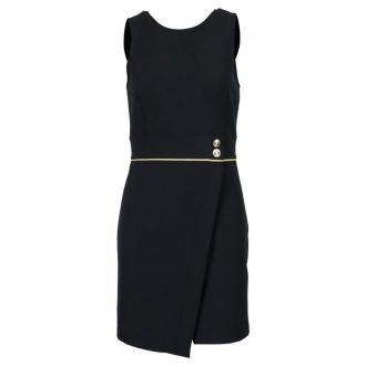 Patrizia Pepe Sukienka 8A0763 A7M9 Sukienki Czarny Dorośli Kobiety