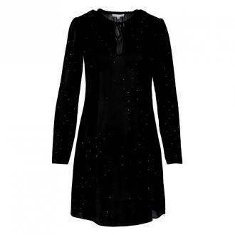 Patrizia Pepe Sukienka 2A2169 A7X9 Sukienki Czarny Dorośli Kobiety