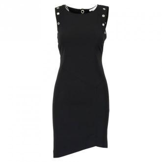 Patrizia Pepe Sukienka 8A0773 A6F5 Sukienki Czarny Dorośli Kobiety