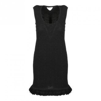 Bottega Veneta POM POM Compact Dress Sukienki Czarny Dorośli Kobiety