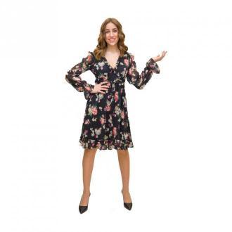 Liu Jo sukienka Kwiaty Sukienki Czarny Dorośli Kobiety Rozmiar: S - 42