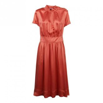 Calvin Klein Sukienka Midi lejka Neck Sukienki Czerwony Dorośli