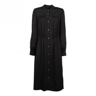 Calvin Klein Suknia Lace Trim Sukienki Czarny Dorośli Kobiety Rozmiar: