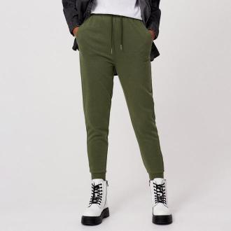 Cropp - Dresowe spodnie jogger - Khaki