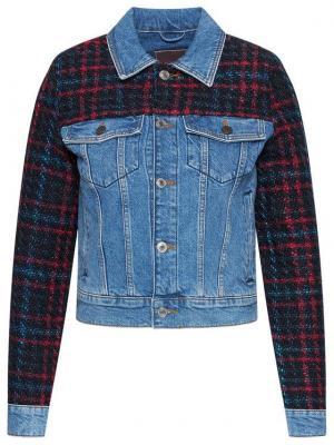 Guess Kurtka jeansowa Delya Tweed W0BN63 D46E2 Granatowy Regular Fit