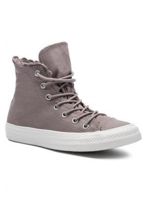 Converse Sneakersy Ctas Hi 564119C Brązowy