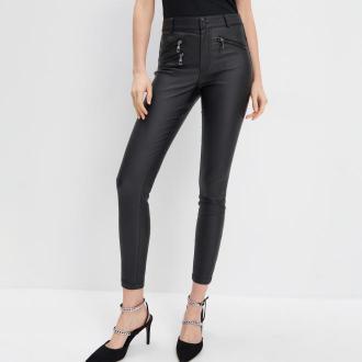 Mohito - Woskowane spodnie skinny - Czarny