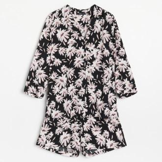 Reserved - Wiskozowa piżama z szortami - Czarny