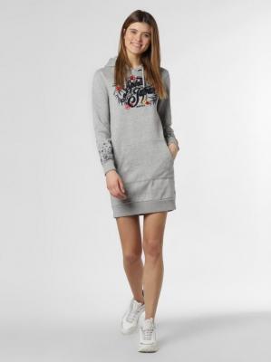 Superdry - Damska sukienka dresowa, szary