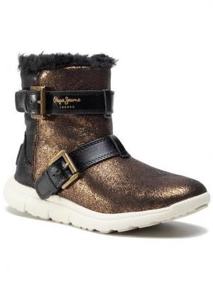 Pepe Jeans Botki Hyke W Snow PLS30762 Złoty