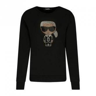 Karl Lagerfeld Bluza Swetry i bluzy Czarny Dorośli Kobiety Rozmiar: L